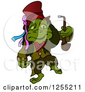Water Goblin Walking With A Pipe