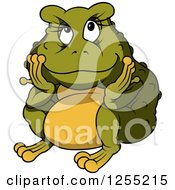Clipart Of A Chubby Female Toad Royalty Free Vector Illustration by dero