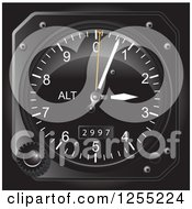 Clipart Of A 3d Altimeter Royalty Free Vector Illustration