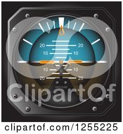 Clipart Of A 3d Altitude Indicator Royalty Free Vector Illustration