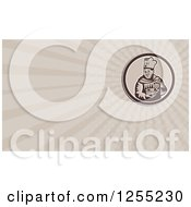Clipart Of A Retro Woodcut Male Chef Mixing Business Card Design Royalty Free Illustration