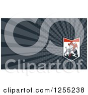 Clipart Of A Retro Woodcut Fireman Business Card Design Royalty Free Illustration