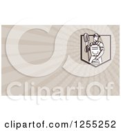 Clipart Of A Retro Janitor Business Card Design Royalty Free Illustration