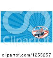 Clipart Of A Retro Man Using A Ride On Mower Business Card Design Royalty Free Illustration