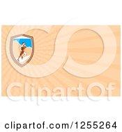 Clipart Of A Retro Marathon Runner Business Card Design Royalty Free Illustration