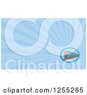 Clipart Of A Retro Train Business Card Design Royalty Free Illustration
