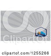 Clipart Of A Retro Big Rig Business Card Design Royalty Free Illustration
