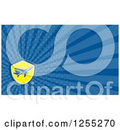 Clipart Of A Retro Airplane Business Card Design Royalty Free Illustration by patrimonio
