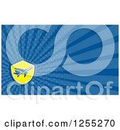 Retro Airplane Business Card Design