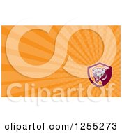Clipart Of A Grizzly Bear Business Card Design Royalty Free Illustration