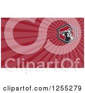 Clipart Of A Retro Carpenter Business Card Design Royalty Free Illustration by patrimonio
