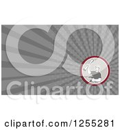 Clipart Of A Retro Carpenter Business Card Design Royalty Free Illustration
