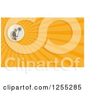 Clipart Of A Retro Chimney Sweep Business Card Design Royalty Free Illustration by patrimonio