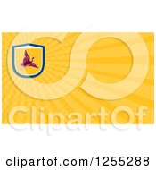 Clipart Of A Retro Crane Business Card Design Royalty Free Illustration