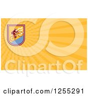 Clipart Of A Retro Cyclist Business Card Design Royalty Free Illustration