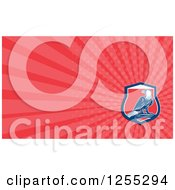 Clipart Of A Retro Bald Eagle Business Card Design Royalty Free Illustration