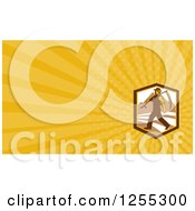 Clipart Of A Retro Farmer Business Card Design Royalty Free Illustration