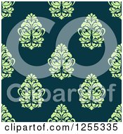 Clipart Of A Seamless Damask Pattern Background Royalty Free Vector Illustration