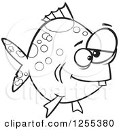 Black And White Spotted Dopey Fish