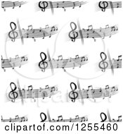 Clipart Of A Seamless Pattern Background Of Music Royalty Free Vector Illustration