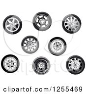 Clipart Of Tires Royalty Free Vector Illustration