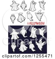Clipart of Ghosts and Halloween Text - Royalty Free Vector Illustration by Vector Tradition SM