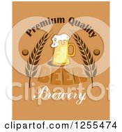 Clipart Of A Premium Quality Beer Brewery Label Royalty Free Vector Illustration