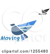 Clipart Of Flying Birds And Moving Text Royalty Free Vector Illustration