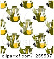 Clipart Of A Seamless Olive Oil Pattern Royalty Free Vector Illustration