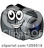 Clipart Of A Happy Handy Cam Royalty Free Vector Illustration