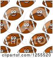 Seamless Pattern Background Of Fast American Footballs