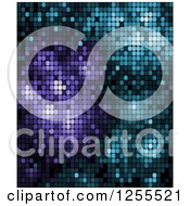 Clipart Of A Purple And Blue Pixel Background Royalty Free Vector Illustration