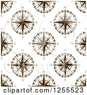 Clipart Of A Seamless Pattern Background Of Compasses Royalty Free Vector Illustration