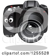 Clipart Of A Happy Dslr Camera Royalty Free Vector Illustration by Vector Tradition SM