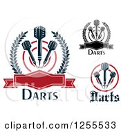 Clipart Of Darts Targets And Text Royalty Free Vector Illustration