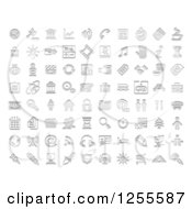 Clipart Of Stamp Styled Media And Website Icons Royalty Free Vector Illustration
