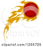 Clipart Of A Basketball With Orange Flames Royalty Free Vector Illustration by BNP Design Studio