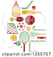 Clipart Of Sports Accessories Royalty Free Vector Illustration