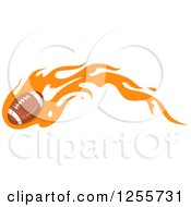 American Football With Orange Flames