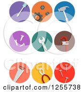 Clipart Of Round Colorful Tools Icons Royalty Free Vector Illustration