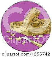 Round Purple Woodworking Icon