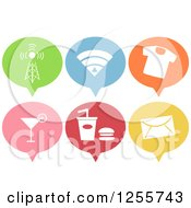 Clipart Of Colorful Pin Shaped Business Icons Royalty Free Vector Illustration by BNP Design Studio