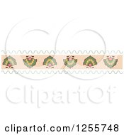 Clipart Of A Vintage Floral Border Royalty Free Vector Illustration
