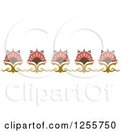 Clipart Of A Vintage Floral Border Royalty Free Vector Illustration by BNP Design Studio