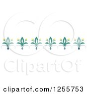Clipart Of A Floral And Swirl Rule Border Royalty Free Vector Illustration
