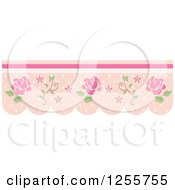 Clipart Of A Vintage Rose And Dot Border Royalty Free Vector Illustration