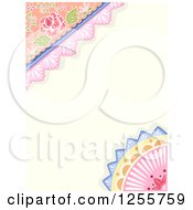 Clipart Of A Shabby Chic Background With Lacy Borders Royalty Free Vector Illustration