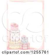 Clipart Of A Floral Shabby Chic Gift Background Royalty Free Vector Illustration
