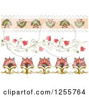 Clipart Of Floral Borders Royalty Free Vector Illustration