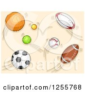 Clipart Of Fast Sports Balls Royalty Free Vector Illustration